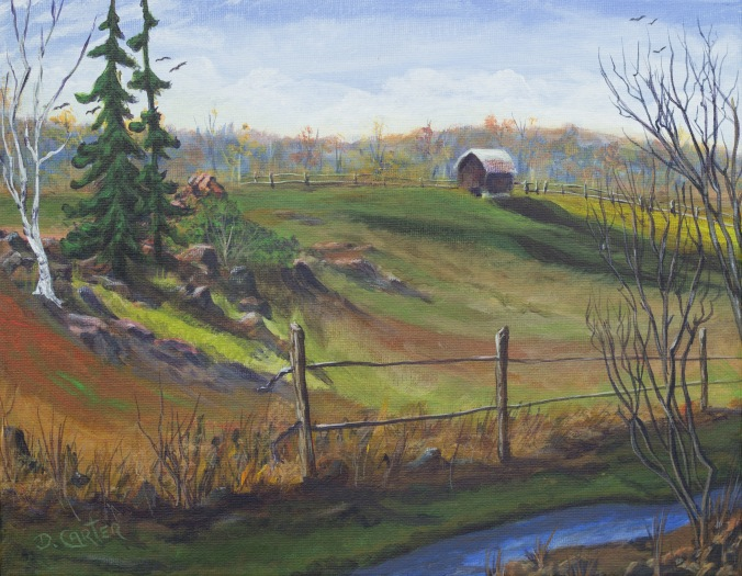 Sage Creek Farm (Acrylic Painting)